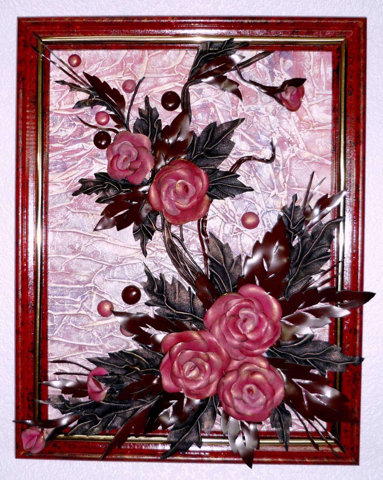 Картины из цветов фоамирана фото